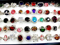 Wholesale Free New Mix The Ring With OVERSIZE Rhinestone Charm Lady s rings Fashion jewellery