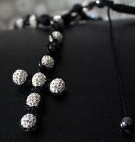 Wholesale cross necklace hiphop cross pendant necklace religious jewelry multicolor mix