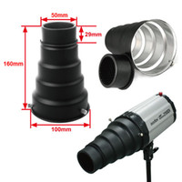 Wholesale Universal mini Conical Snoot small Flash Strobe Light Studio with Honey Comb black