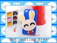 Wholesale cute rabbit mirror back cellphone protective case cover for iphone s games