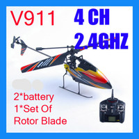 Wholesale 4CH Ghz Single Blade Screw Gyro LCD Display Controller Indoor Outdoor RTF RC Helicopter WL V911