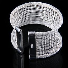 Wholesale 925 Silver Mesh Bangle Bracelet ,Pretty Women's Jewelry Cuff Bangle 10pcs Free Shipping