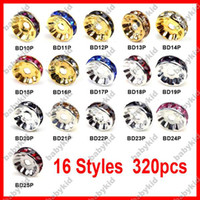 Wholesale Rondelle Spacer Crystal Rhinestone Basketbal Beads Jewelry Fit DIY bracelet Ear UBD10P UBD25P