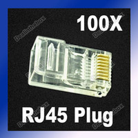 Wholesale P8C RJ45 RJ CAT5 Clear Modular Plug Network Connector