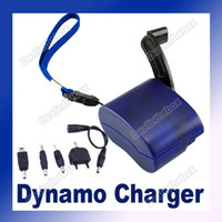 Wholesale Hand Wind up Power Dynamo Crank Charger Kit For Mobile Phone Travel Portable Emergency