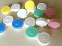 Wholesale 100 pairs Contact Lens Case Color Dual Box Double Case Lens Soaking Case
