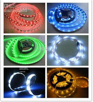 Wholesale 3528 Flexible Led Strip Light M Leds V SMD Warm Pure Cool White Red Green Blue RGB Non Waterproof Hot