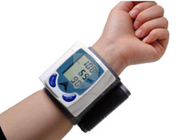 Home Digital LCD Wrist Cuff Blood Pressure Monitor Heart Bea...