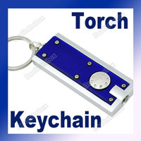 Wholesale High Tech LED Camping Keyring Torch Keychain Flashlight Lamp Plastic