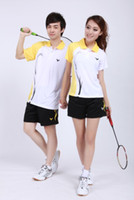 Wholesale 2012 New Style Victor A803 B803 Badminton Apparel M XL sets shirt short skirt