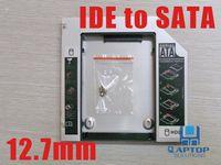 Cheap 12.7mm PATA IDE to Sata HDD Hard Drive Caddy UltraBay Slim 2nd IDE-SATA For Universal Laptop New