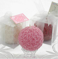 Cheap Colorful Rose Ball Candle Wedding Candles candellight dinner Gift Candle 4.5cm (diameter) 10pcs lot