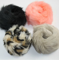 Bohemian fashion hair circle - fashion faux rabbit fur hair hair accessories bobby pins hand circle headband
