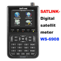 Wholesale Hot sale Satlink WS DVB S FTA digital satellite finder meter Free dhl WS6908 WS