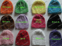 Wholesale baby waffle hat crochet hats clips sunny soft cap toddler stretch caps feshion hot sell