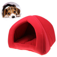 Wholesale Comfortable Foldable Soft Pet Tent Indoor Outdoor Safety House Bed for Puppy Cat Rabbit Red