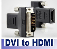 Wholesale DVI Male to HDMI Female M F Adapter Converter for HDTV Computer Accessories Computer Connectors