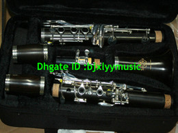 Wholesale Professional ebony clarinet Bb Ebony Clarinet Silver Plated Keys with case
