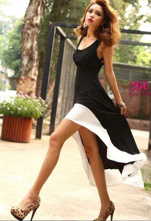 Womens Evening Dress Backless Maxi Dress Asymmetrical Evening ...