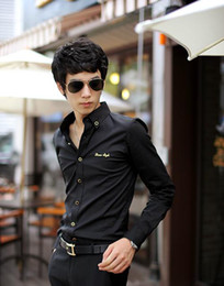 Wholesale 2012 Korean Version New Trend Spring Autumn Men s Casual Shirt Slim Fashion Thicker Shirt Shirt