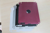 Wholesale DHL Carbon fiber skin sticker For New iPad iPad3 skin case for new ipad ipad3