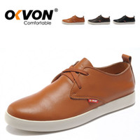 Wholesale OKVON Simon single layer cow leather shoes British fashion Tide male BanXie Sports leisure shoes