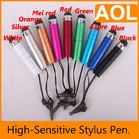 Wholesale Capacitive Stylus Touch Pen for Tablet PC Cell Phone Earphone Dustproof Electroplated Touch Pen Best