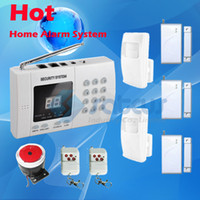 Wired auto alarm installation - Cheap Good Quality Easy Installation Wireless Home Security Burglar Auto Dial Telephone Line Alarm PSTN Home landline Alarm Systems SA