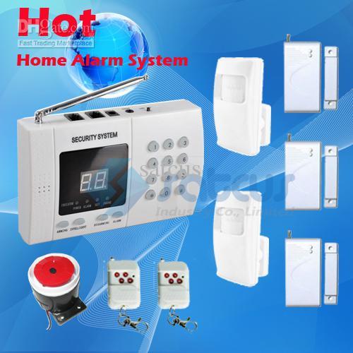 cheap good quality easy installation wireless home security burglar auto dial alarm system sa. Black Bedroom Furniture Sets. Home Design Ideas