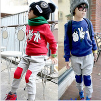 girl&boy kids sweat suits - Kids Spring and Autumn the new Korean children s clothes baby girls and boys track suit sweat