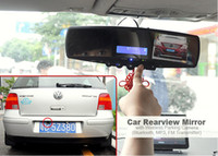 Wholesale Freeship In Car Rear view Mirror Monitor Wireless Parking Reversing Camera Bluetooth FM