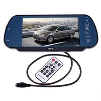 Wholesale 7 quot USB SD MP5 Color TFT LCD Car Rearview Mirror Monitor Remote Builtin Bluetooth