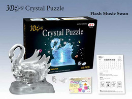 Wholesale 3D Puzzle Crystal Swan Jigsaw Puzzle