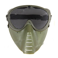 Christmas air soft goggles - ST04 Air Soft Face Guard Mesh Tactical Mask Goggles Green