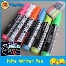 Лакокрасочные магазины Онлайн-высокого легче электронной указатель красочный бар витрина Nite писатель искусства краской пера флуоресцентный маркер таблетки