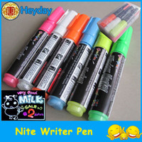 Wholesale hot marker pen brush highlighter pen bar window display nite writer pill pen fluorescent colorful