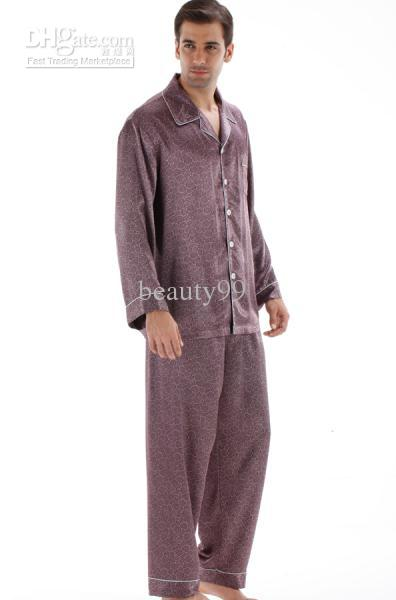 2017 Pajama Sets Men 2015 Hot Selling Men Silk Sleepwear Suit ...