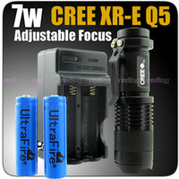 Wholesale 7W Lm CREE XR E Q5 LED Con Zoom LINTERNA A3 CA