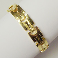 Wholesale BRAND NEW g cm long MEN K YELLOW GOLD GEP SOLID FILL GP BRACELET GB A