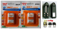 Wholesale 2pcs New V Rechargeable Li ion battery mAh Charger