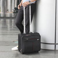 Wholesale leather luggage bags travel bags suitcase for both men and women top quality