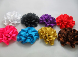 Wholesale Crochet Headbands inch Tropical Lily Flower Baby Heads Hair clips Hair Flowers Baby Clips