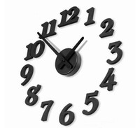 New Style DIY Modern Time Design 3D Wall clock decor Room Bl...