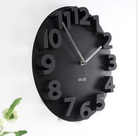 Wholesale Classic Decorative D Wall Clock Round Shape Novelty Art Modern Gift Home Room