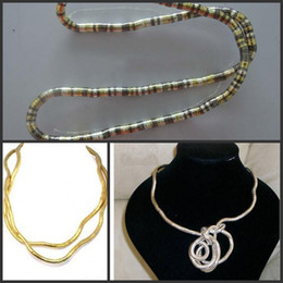 Wholesale EMS Freeshipping Trendy Bendy Snake Necklace Bracelet Bendable Bendy Twisty Flexible Snake Chain
