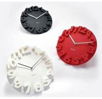 Classic Decorative 3D Wall Clock Round Shape Novelty Art Mod...