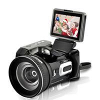 Wholesale 16MP HD7000 HD9100 HDDV Digital Video Camera Camcorder Telephoto Lens Wide angle Lens Remote Control