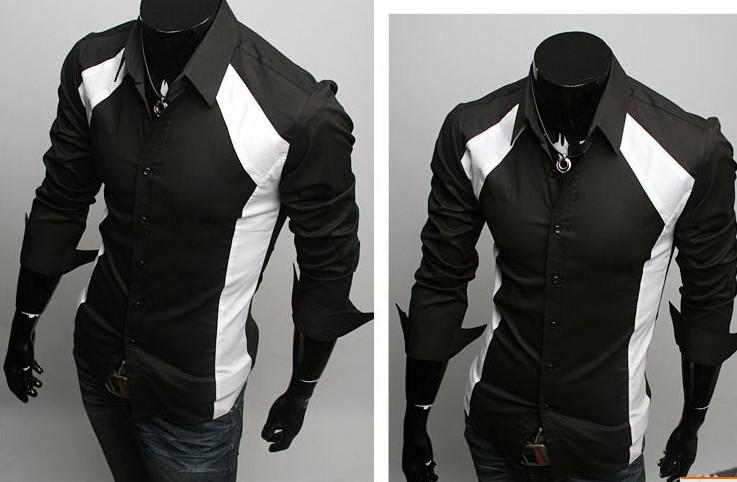 Men Shirts Casual Slim Fit Stylish Dress Shirts Size,S,M,L,XL ...