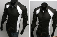 Wholesale Men Shirts Casual Slim Fit Stylish Dress Shirts size S M L XL Colour White black