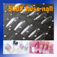 Wholesale Approx Natural Clear French Acrylic False Nail Art Full Tips Manicure Transparent